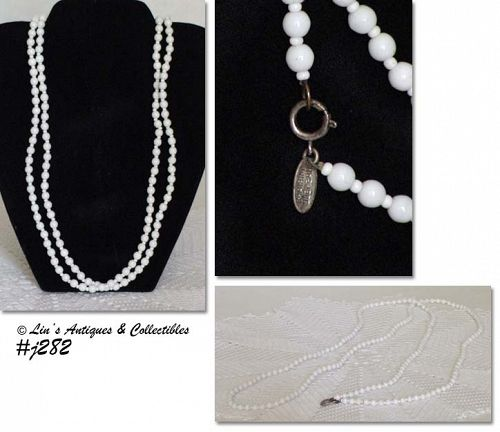 MIRIAM HASKELL WHITE BEAD NECKLACE