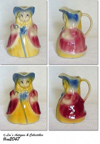 SHAWNEE POTTERY VINTAGE LITTLE BO PEEP PITCHERS 2 AVAILABLE