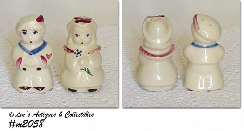 SHAWNEE POTTERY -- SAILOR AND BO PEEP SHAKER SET