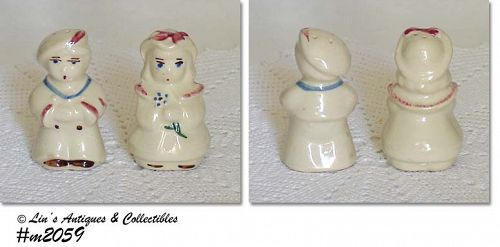 SHAWNEE POTTERY VINTAGE SAILOR AND BO PEEP SHAKER SET