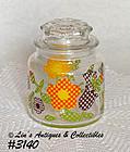 McCOY POTTERY -- GINGHAM GARDEN GLASS JAR