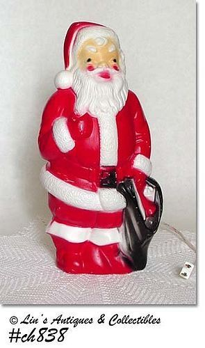 VINTAGE DATED 1968 EMPIRE PLASTICS BLOW MOLD LIGHTED SANTA