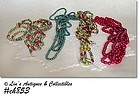 4 VINTAGE GLASS BEAD CHRISTMAS GARLANDS
