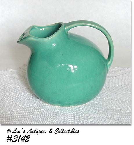 McCOY POTTERY -- ROUND PITCHER (AQUA)
