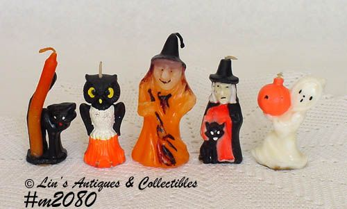 VINTAGE GURLEY CANDLES LOT OF 5 GURLEY HALLOWEEN CANDLES