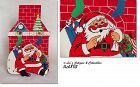 VINTAGE SANTA AND CHIMNEY CHRISTMAS CARD HOLDER