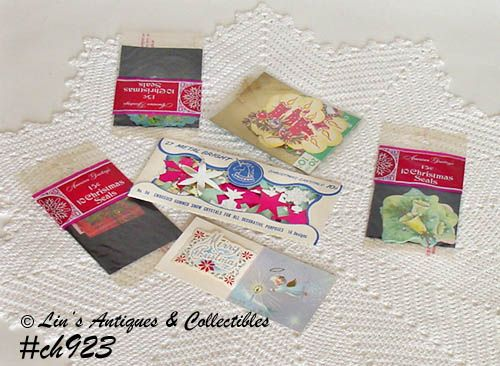 CHRISTMAS PACKAGE SEALS/DECORATIONS (IN ORIGINAL PKGS.)