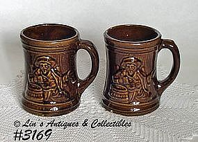 McCOY POTTERY -- BUCCANEER MUGS (2) & McCoy Pottery and Vintage Hankies at Linu0027s Antiques and Collectibles ...