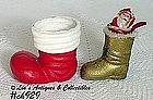 2 PAPIER-MACHE' BOOTS