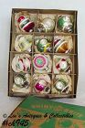 1 DOZEN VINTAGE GLASS SHINY BRITE CHRISTMAS ORNAMENTS