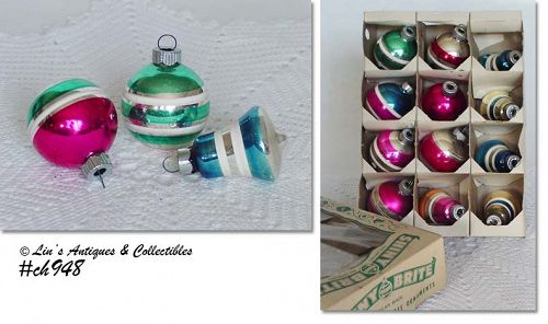 1 DOZEN SHINY BRITE ORNAMENTS