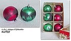 6 BEAUTIFUL CHRISTMAS ORNAMENTS MADE IN WEST GERMANY IN ORIGINAL BOX