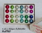 TWENTY FOUR SHINY BRITE MINIATURE ORNAMENTS