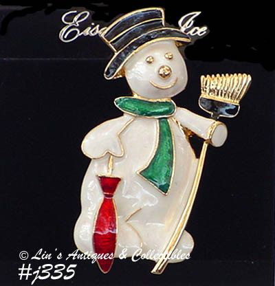 EISENBERG ICE -- DAPPER SNOWMAN PIN