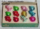 1 DOZEN SMALL SHINY BRITE ORNAMENTS (IN BOX)