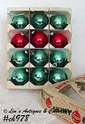 1 DOZEN VINTAGE SHINY BRITE ORNAMENTS IN BOX