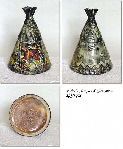 McCOY POTTERY -- TEE PEE COOKIE JAR
