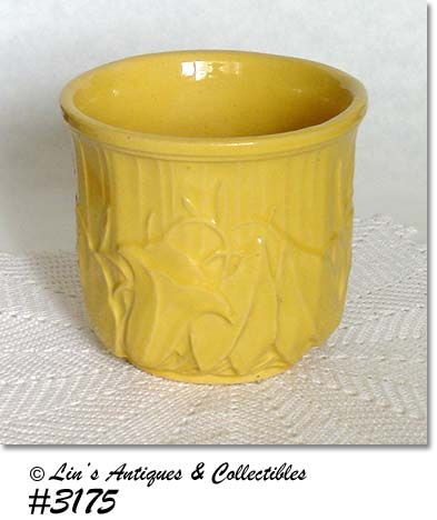 "McCOY POTTERY -- YELLOW JARDINIERE (6 1/2"")"