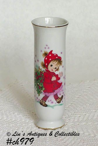 Lefton Christmas Christy Bud Vase