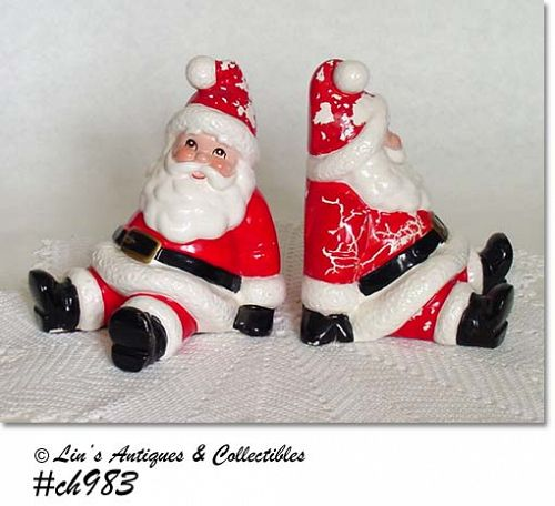 FITZ AND FLOYD -- SANTA BOOKENDS