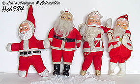 4 VINTAGE ESTATE SALE SANTAS