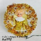VINTAGE GOLDEN ANGEL HOLIDAY LIGHT