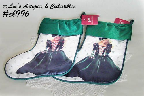 1995 HALLMARK BARBIE CHRISTMAS STOCKINGS 2 AVAILABLE IN THIS LISTING