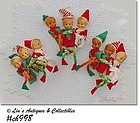 VINTAGE PIXIES (ELVES) ORNAMENTS