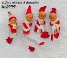 4 PIXIES (ELVES) ORNAMENTS