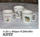 McCOY POTTERY -- THREE CHRISTMAS CUPS