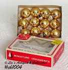 1 DOZEN GOLD COLOR MINI GLASS ORNAMENTS