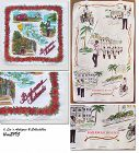 VINTAGE BAHAMAS SOUVENIR HANKY AND LINEN KITCHEN TOWEL