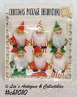 6 SANTAS -- PACKAGE DECORATIONS