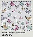 VINTAGE FRANSHAW HANDKERCHIEF COVERED WTIH BEAUTIFUL BUTTERFLIES