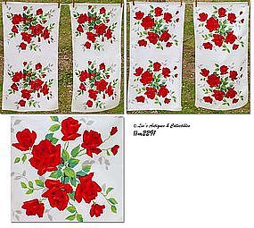 "WILENDUR ""ROYAL ROSE"" KITCHEN TOWELS (4)"