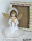 DOUBL-GLO ANGEL TREE TOPPER WITH ORIGINAL BOX