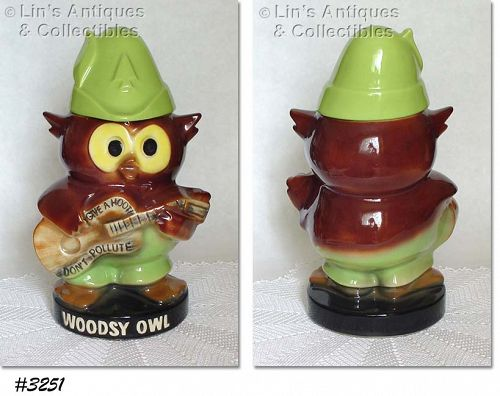 McCOY POTTERY -- WOODSY OWL COOKIE JAR