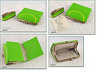 VINTAGE PRINCESS GARDNER BRIGHT GREEN WALLET AND LIGHTER