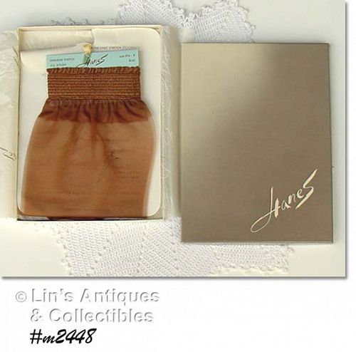 2 PAIRS VINTAGE HANES OVER THE KNEE NYLONS SIZE 8 1/2-9