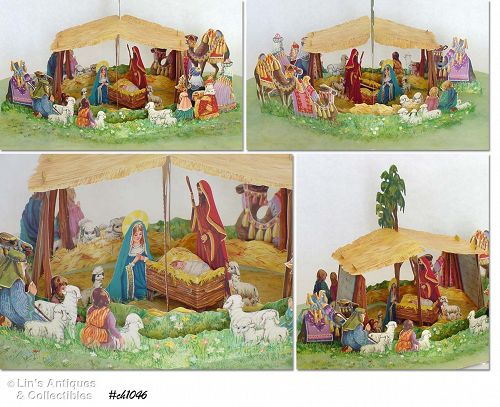 "VINTAGE HALLMARK ""POP-UP"" NATIVITY"