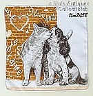 KITTY AND PUPPY LOVE HANDKERCHIEF