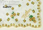 """YELLOW ROSES HANDKERCHIEF FOR """"MOTHER"""""""