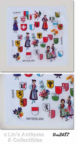 SOUVENIR HANDKERCHIEF, SWITZERLAND