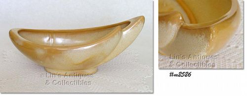 FRANKOMA POTTERY VINTAGE DESERT GOLD CRESCENT SHAPED BOWL