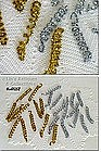 25 TINSEL CURLY ORNAMENTS / DECORATIONS
