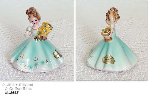 MARCH BIRTHDAY GIRL VINTAGE FIGURINE BY JOSEF