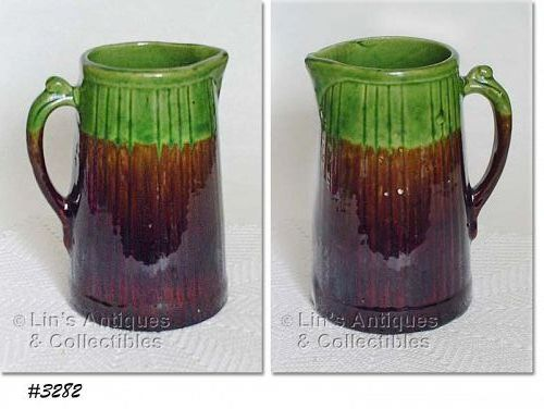 McCOY POTTERY  BROWN AND GREEN VINTAGE STONEWARE PITCHER