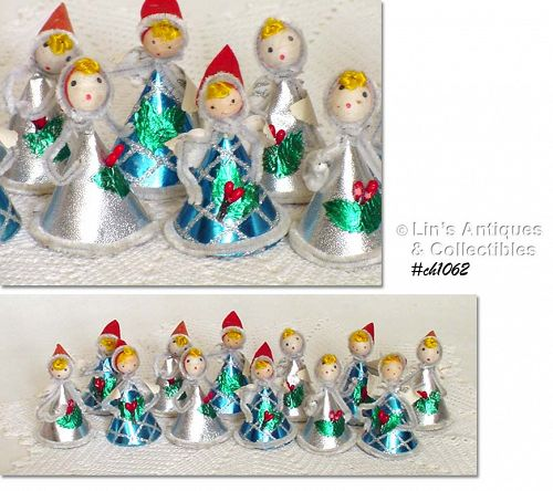 ONE DOZEN VINTAGE ANGELS