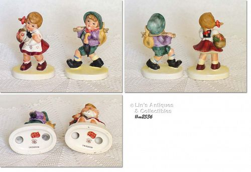 LEFTON -- HUMMEL-LIKE BOY AND GIRL FIGURINES