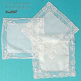 3 BEAUTIFUL WEDDING HANDKERCHIEFS
